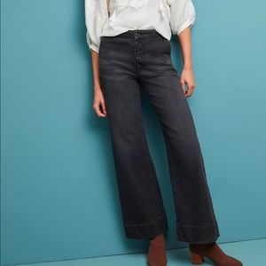 Anthro Pilcro ultra high rise wide leg denim